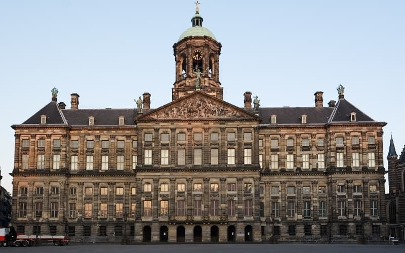 The Royal Palace in Amsterdam