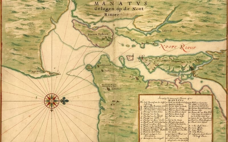 Did the Dutch discover New York - Old map of New York