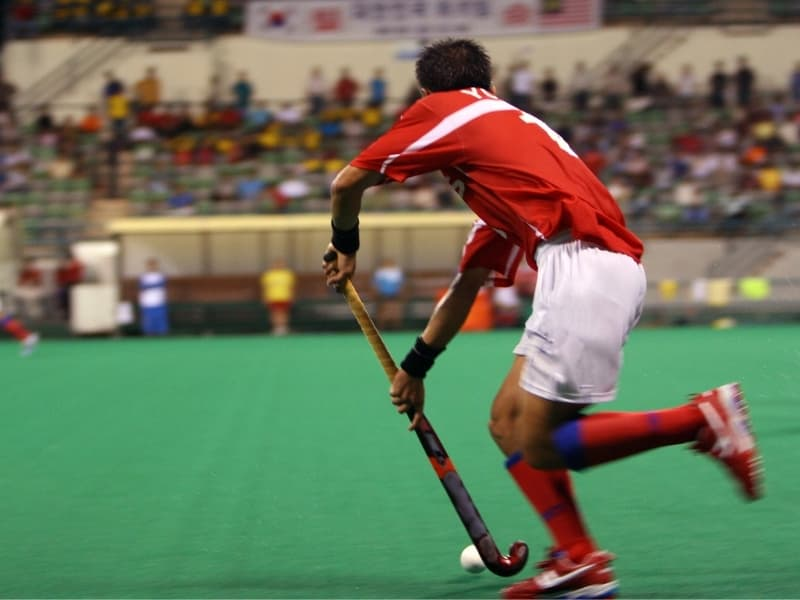 Is The Netherlands Good At Field Hockey - Hockey player in stadium