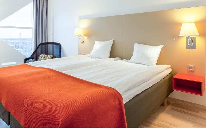 Tilburg travel guide - View of a hotelroom in Tilburg