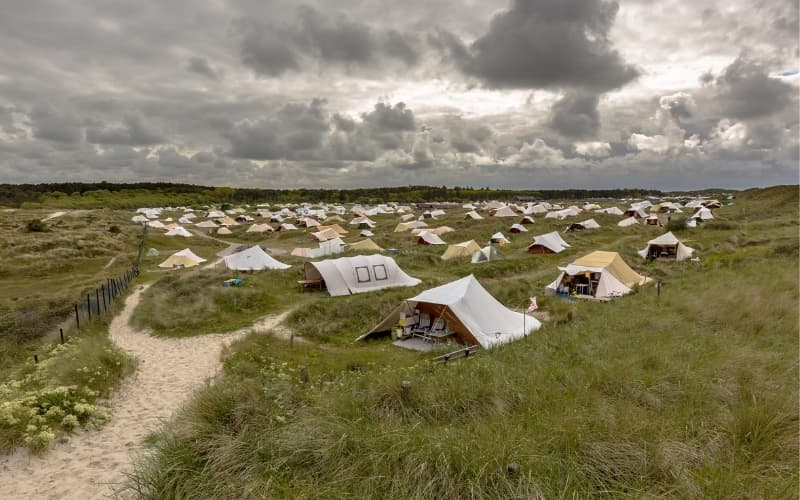 Visiting Texel Island - Campsite in the dunes
