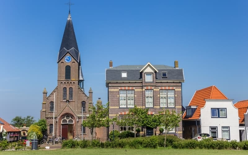 Visiting Texel Island - Church in Oudeschild on Texel island