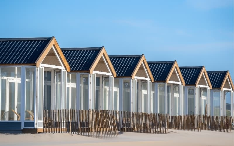 Visiting Texel Island - Houses at the beach in Texel