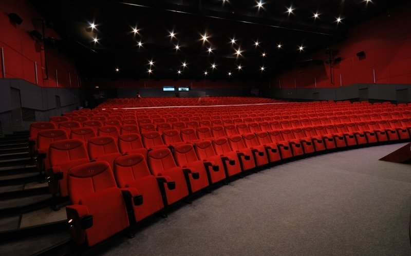 Photo of an empty cinema
